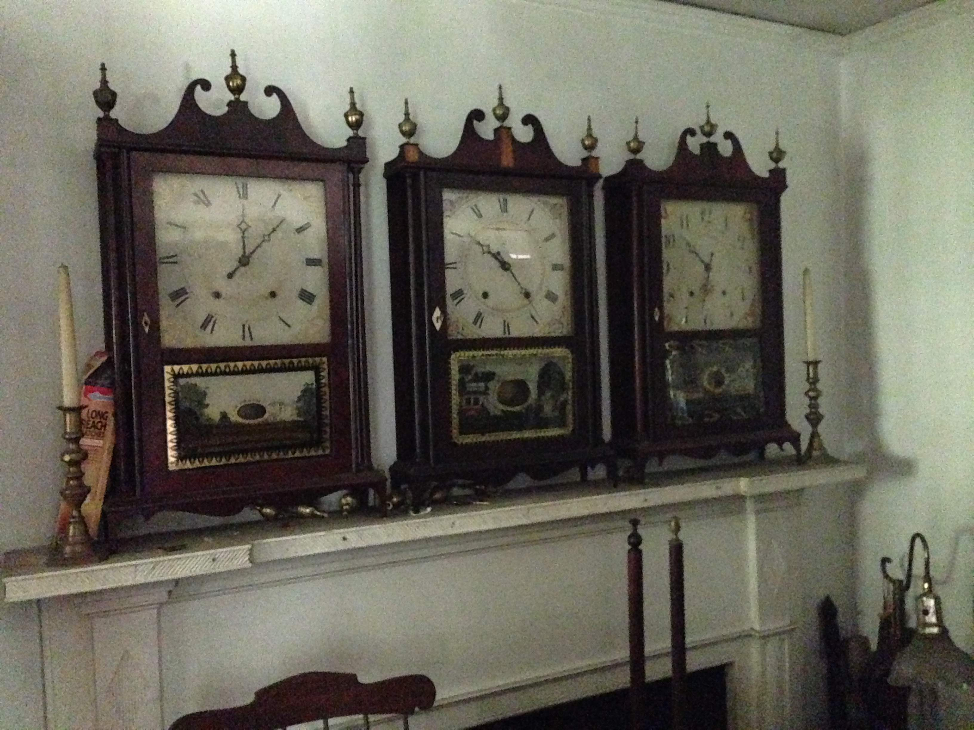 Tempus fugit hoard of clocks to sell at schwenke onsite auction selection pillar scroll amipublicfo Image collections