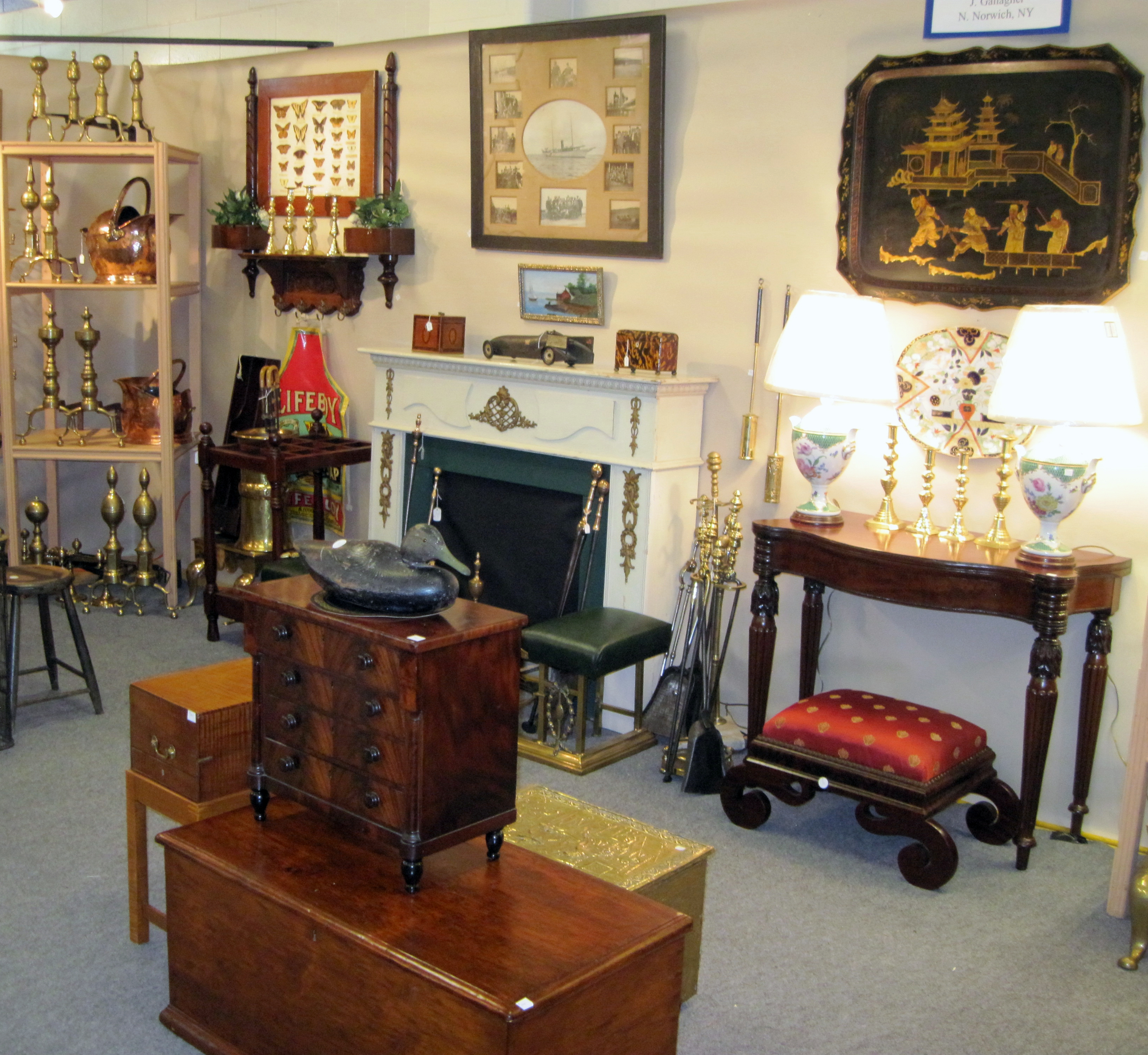 J  Gallagher  North Norwich  N Y. Sheffield Antiques Show Concludes No  68
