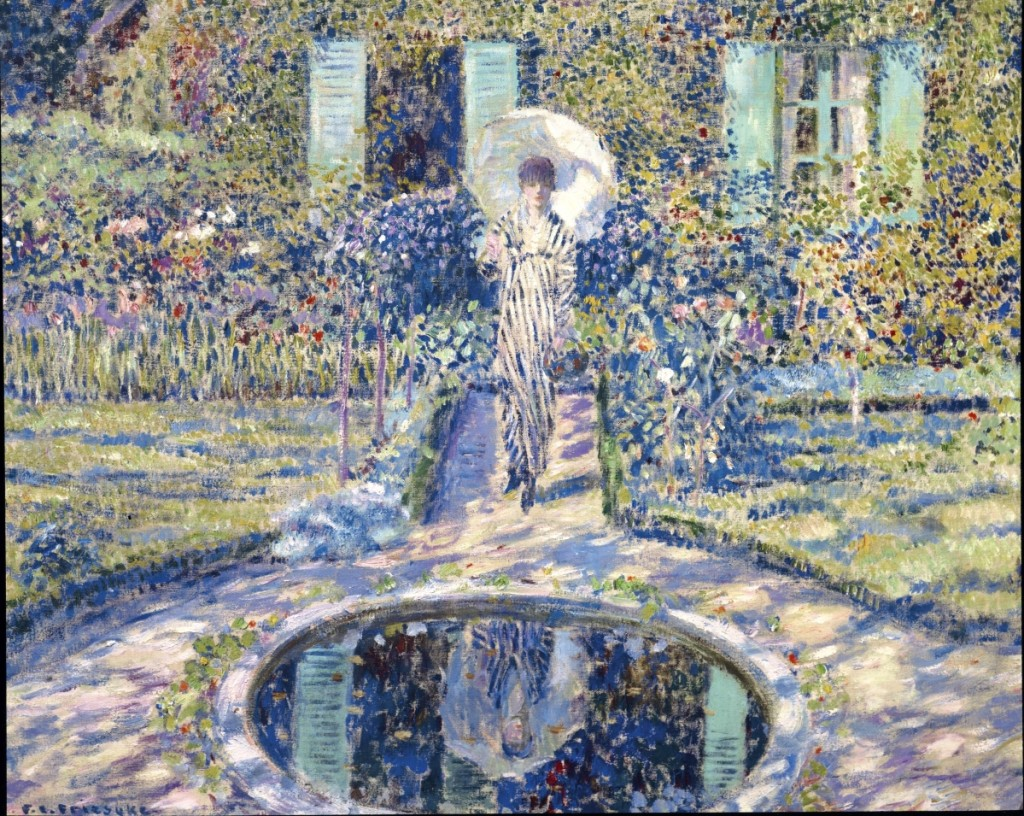 """The Garden,"" by Frederick Carl Frieseke (1874–1939), an oil on canvas painted in 1913, nearly met its high estimate, realizing $2,407,500."