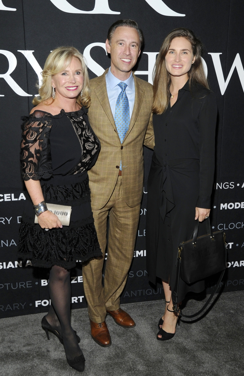 Enjoying the opening night party are (from left) Sharon Bush, Scott Diament and Lauren Bush Lauren. ©Patrick McMullan, Photo by Owen Hoffmann/PMC.