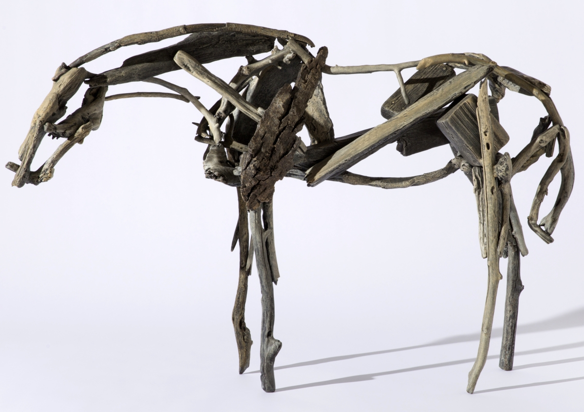 Deborah Butterfield (American, b 1949), untitled, 1992; cast bronze and patina, 36 by 54 by 13 inches. Tacoma Art Museum. —Photo ©TAM, Russell Johnson and Jeff Curtis photo.  Art ©Deborah Butterfield/Licensed by VAGA, New York, NY.