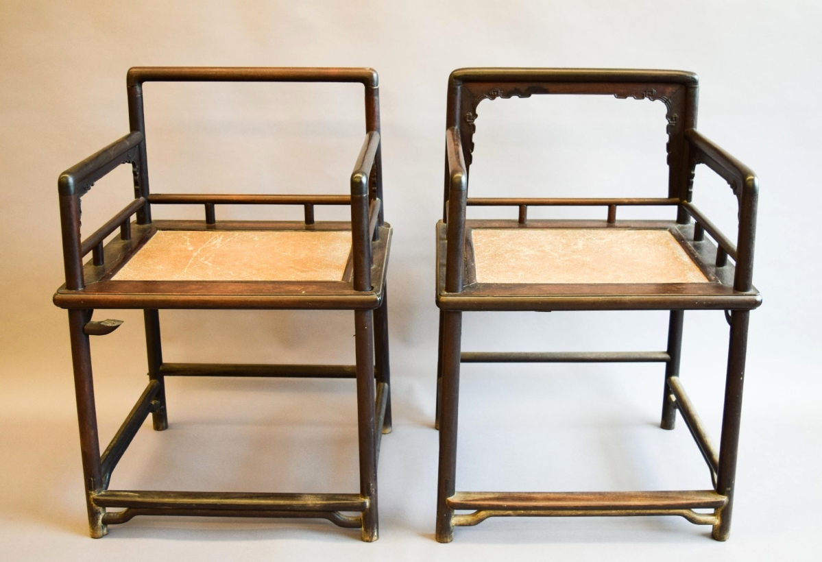 Topping The Day Was A Pair Of Tzutan Seventeenth Century Rose Chairs That  Brought $24,750.