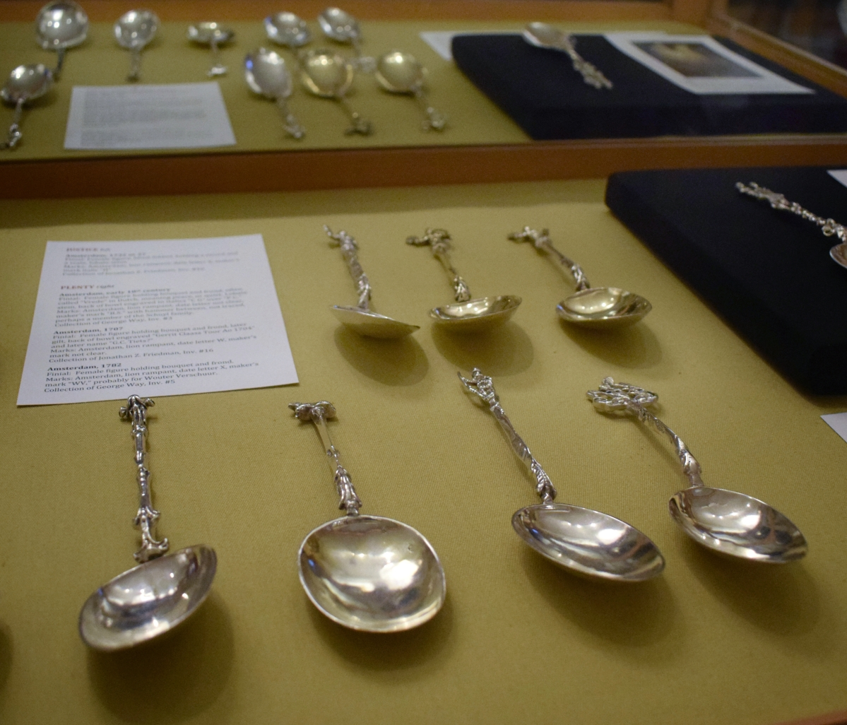 A recent exhibit at Historic Huguenot featured Way's collection of Dutch spoons.