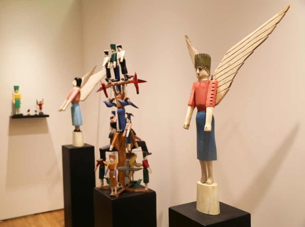 Carl Hammer Gallery, Chicago, exhibited the carved and painted sculpture of Wisconsin artist Albert Zahn.