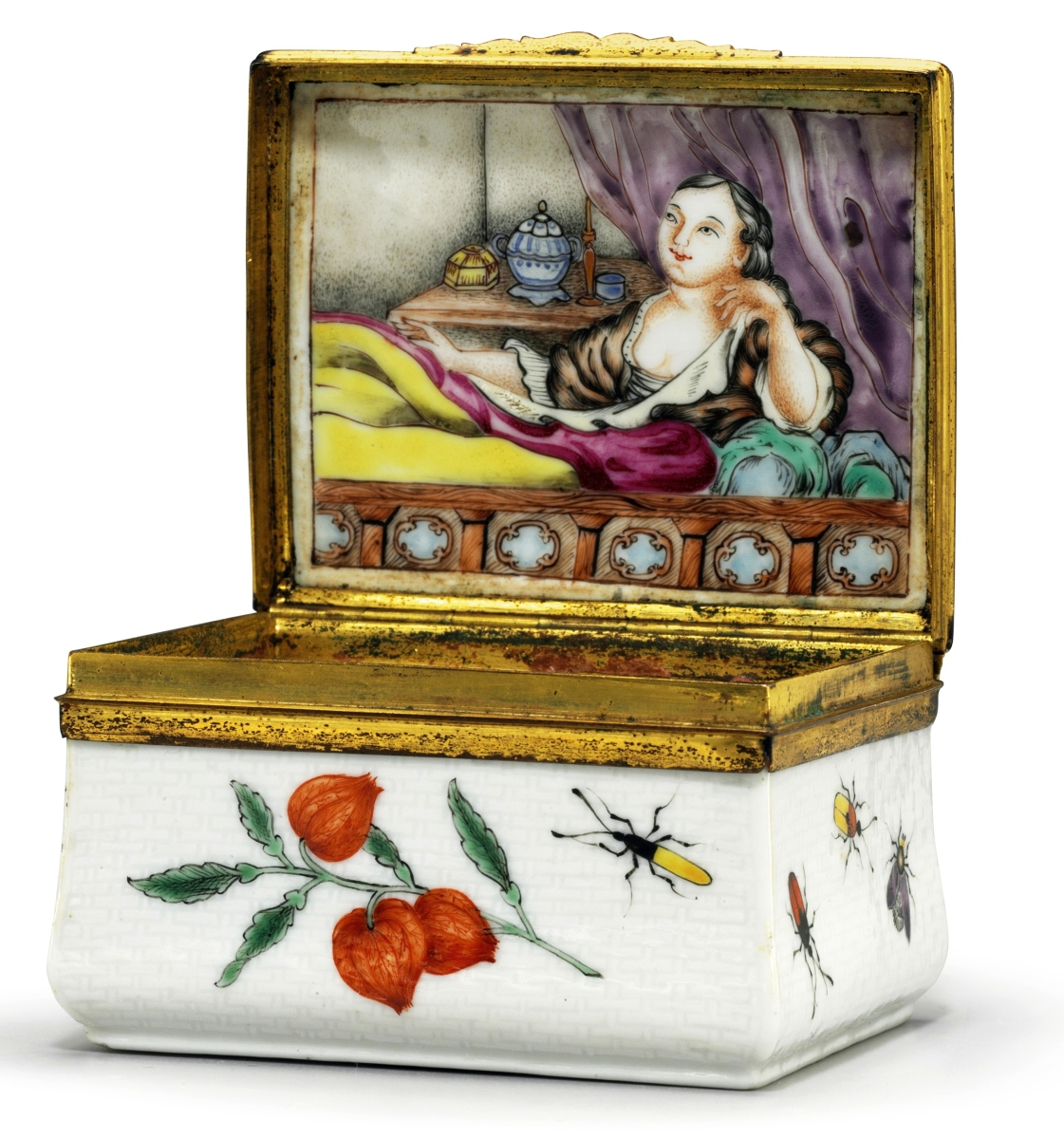 An appealing group of painted and enameled Chinese export snuffboxes crosses the block at Christie's on January 18.