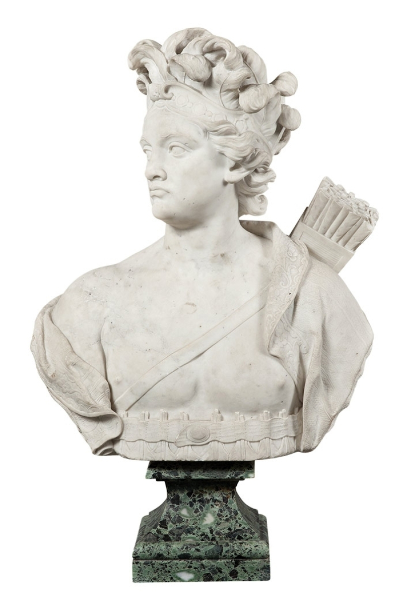 Doyle's sale of European decorative arts and Old Master pictures on January 25 features four allegorical busts of the continents. America is shown.