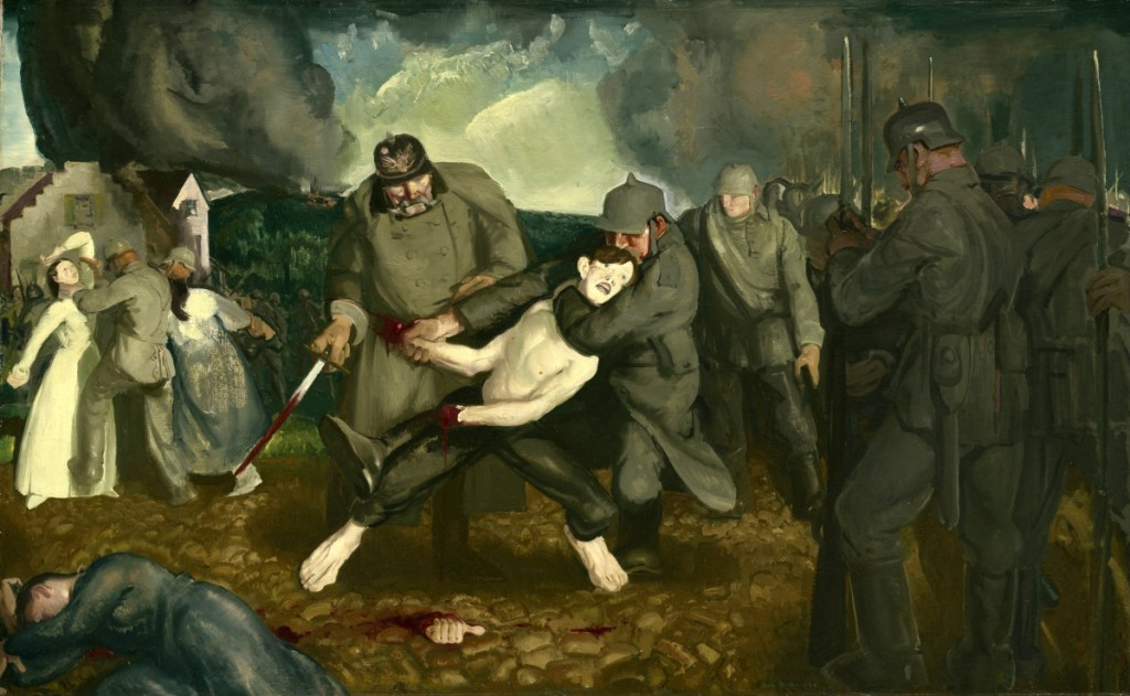 """The Germans Arrive"" by George Bellows (1882–1925), 1918. Oil on canvas, 49½ by 79¼ inches. Courtesy Ian M. Cumming"