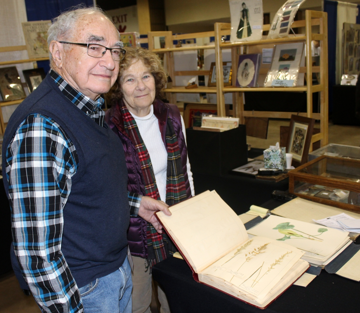 Norman and Doris Sandys of Albertson, N.Y., were finding success selling herbariums and collections of watercolors depicting native plants.