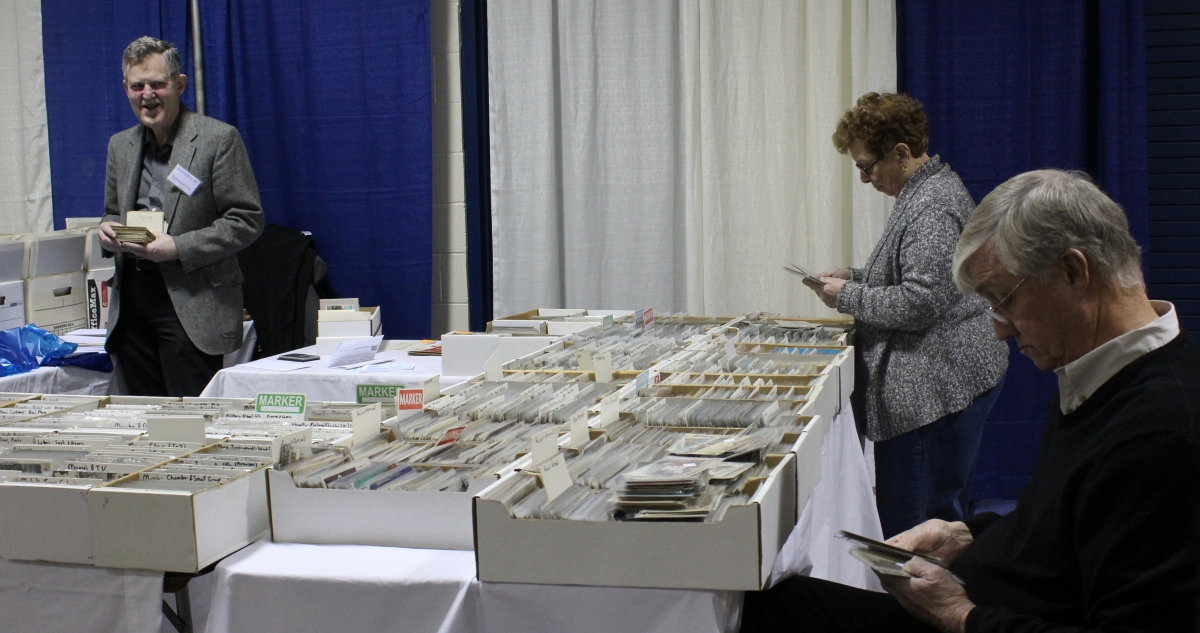 Show attendees sift through the massive inventory at Michael L. Seaman, Albany, N.Y.