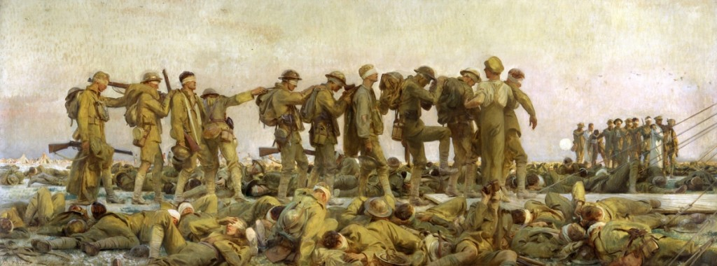 """Gassed"" by John Singer Sargent (1856–1925), 1919. Oil on canvas, 90½ by 240 inches. Imperial War Museum, London"