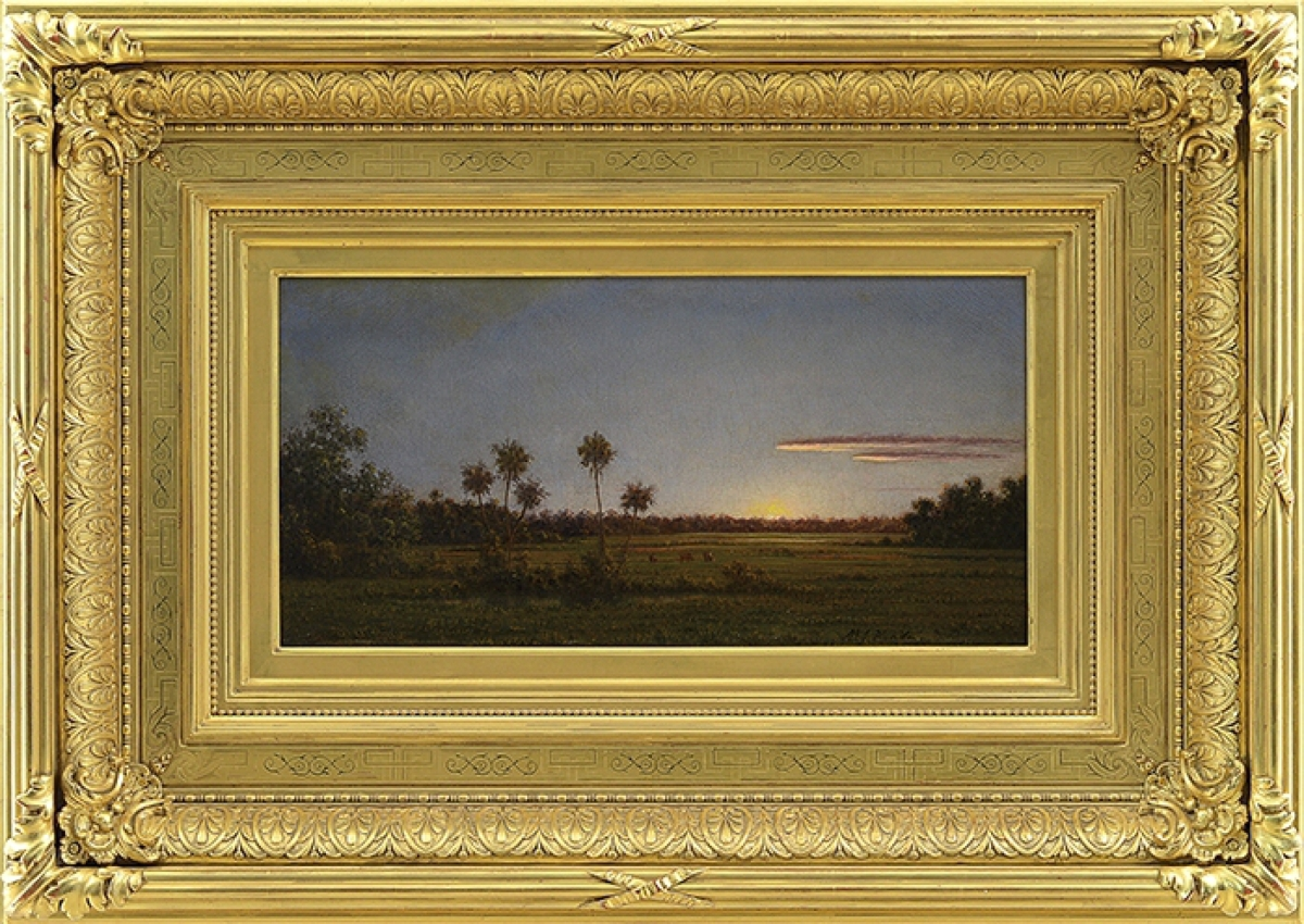 "The highest priced lot of the sale, $359,000, was earned by Martin Johnson Heade's ""Florida Pastoral."" It's a well-known painting, having been illustrated in several works about the artist, as well as having been included in exhibitions of his work."