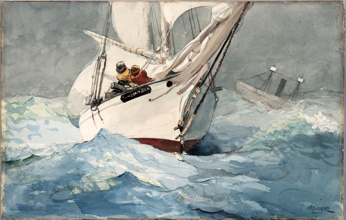 """Diamond Shoal"" by Winslow Homer (1836–1910), 1905. Watercolor and graphite on paper. Private Collection."