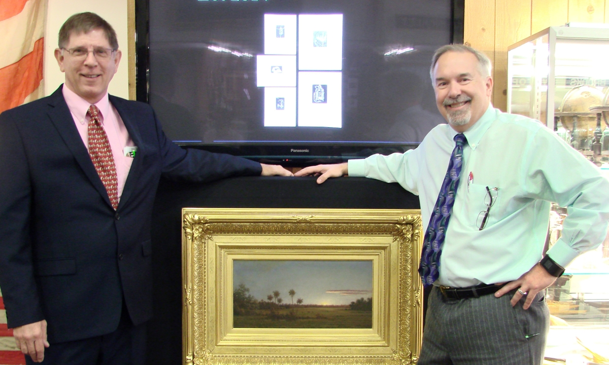 Bill Gage, Julia's fine art, asian and antiques division department head (at left), is pictured with chief executive officer Mark Ford.