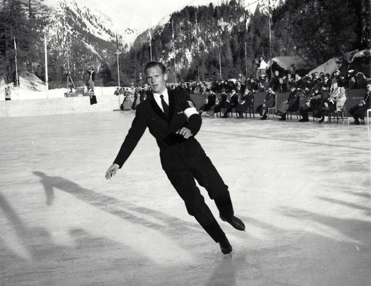 Dick Button won his first Olympic gold medal at the 1948 Winter Games in St Moritz, Switzerland.