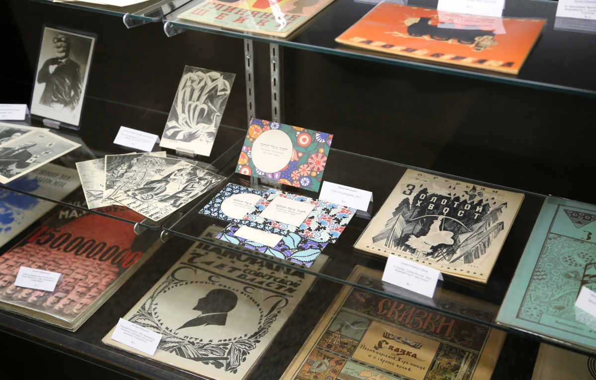 Eastern European lithography and children's books were on show at the booth of Rare Paper, New York City.