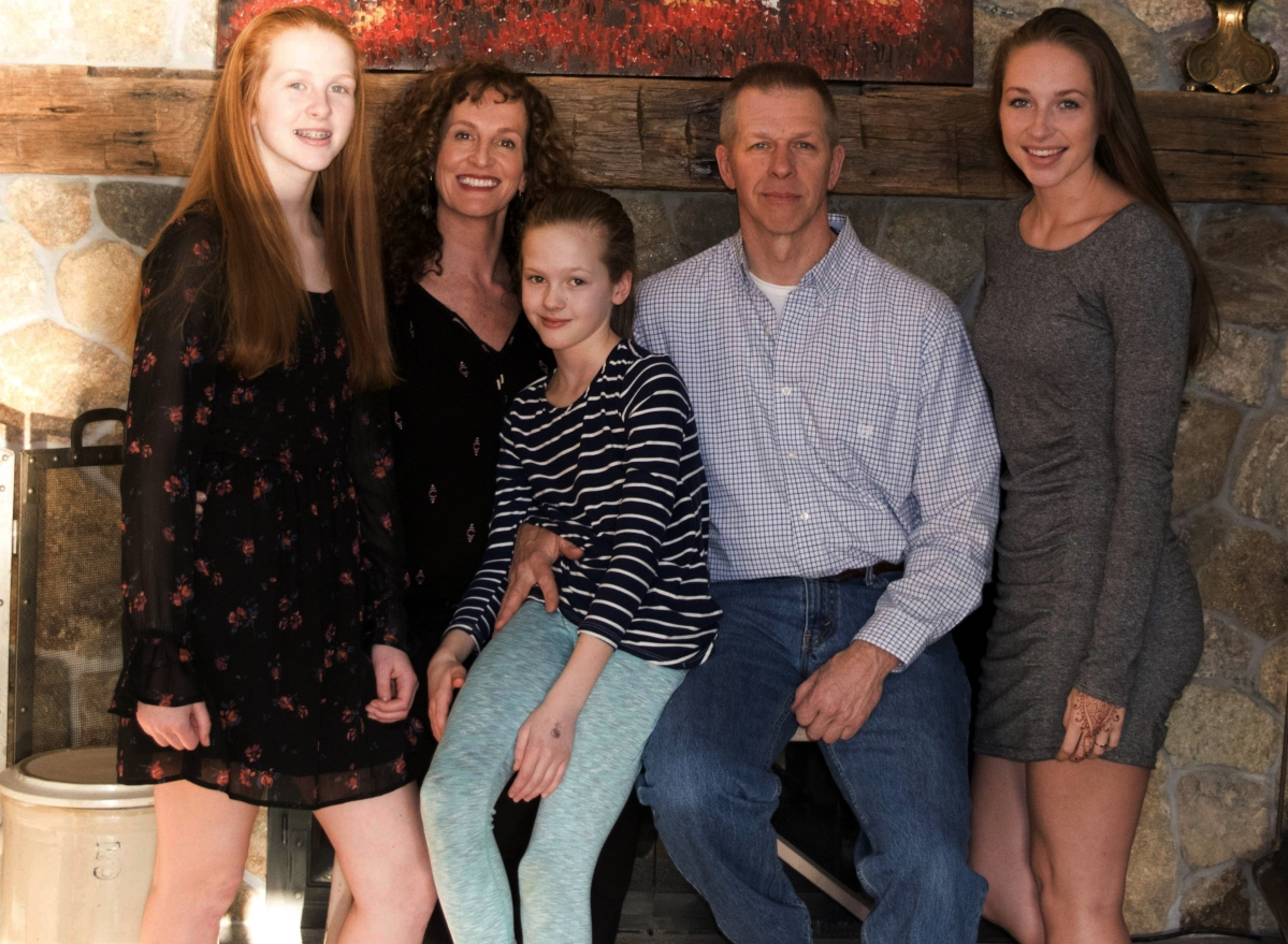 The Corriveau family, from left, Kara, Kate, Sidney, Rusty and Abigail.