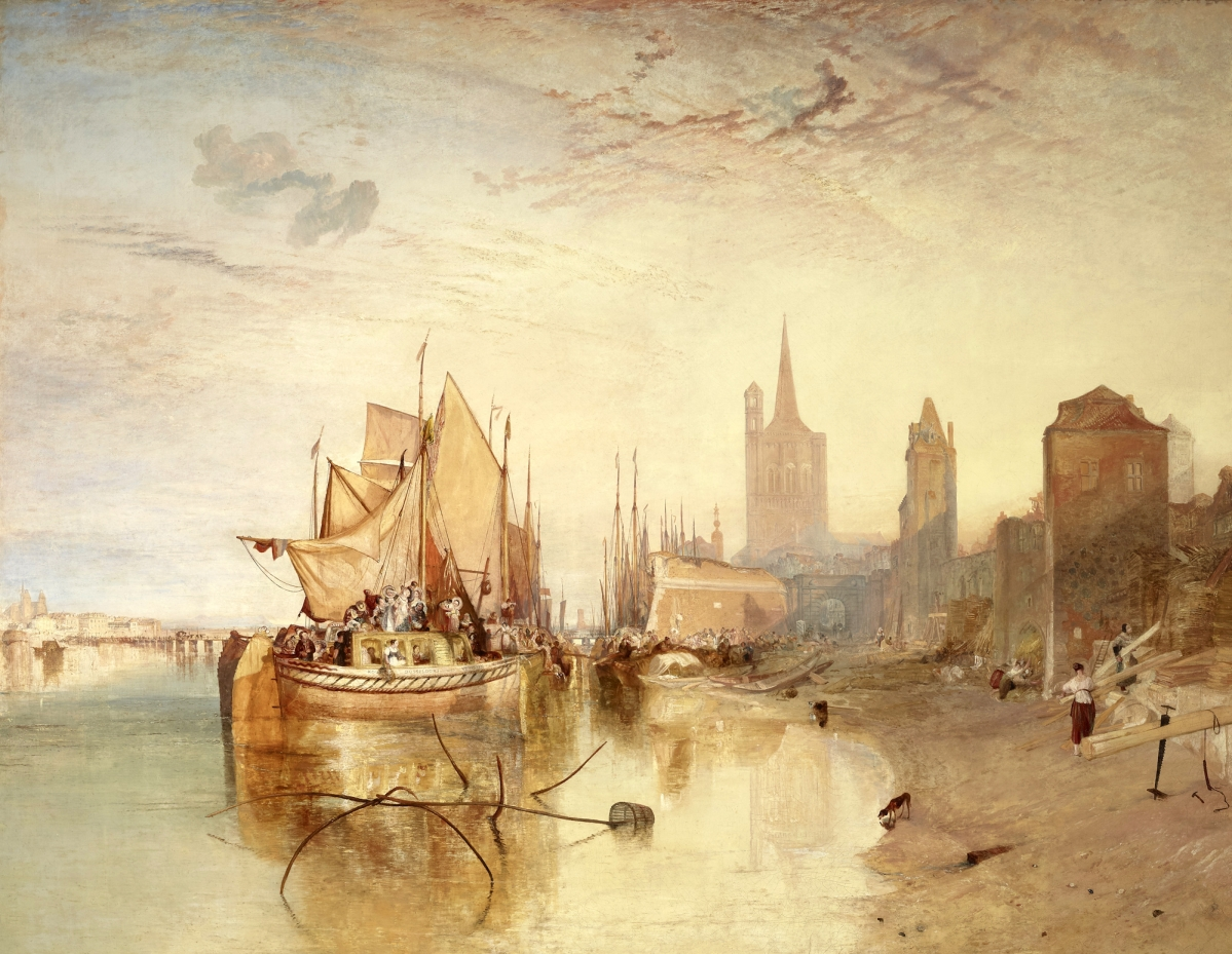 """Cologne, the Arrival of a Packet-Boat: Evening,"" exhibited 1826, oil on canvas, 66-  by 88¼ inches. The Frick Collection, New York. —Michael Bodycomb photo"