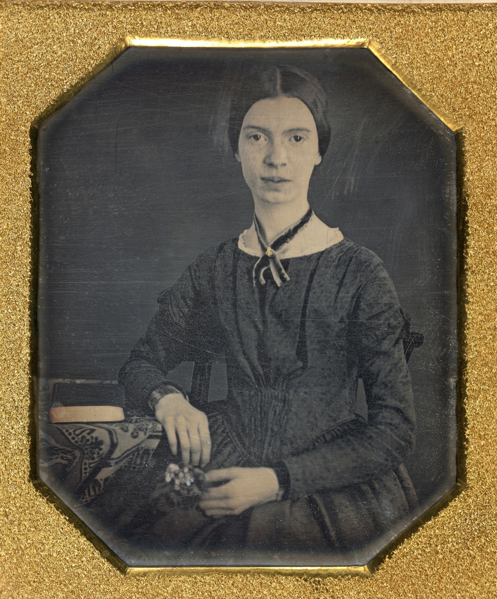The only authenticated daguerreotype of Emily Dickinson (1830–1886) dates to circa 1847, Amherst College Archives & Special Collections; gift of Millicent Todd Bingham, 1956.