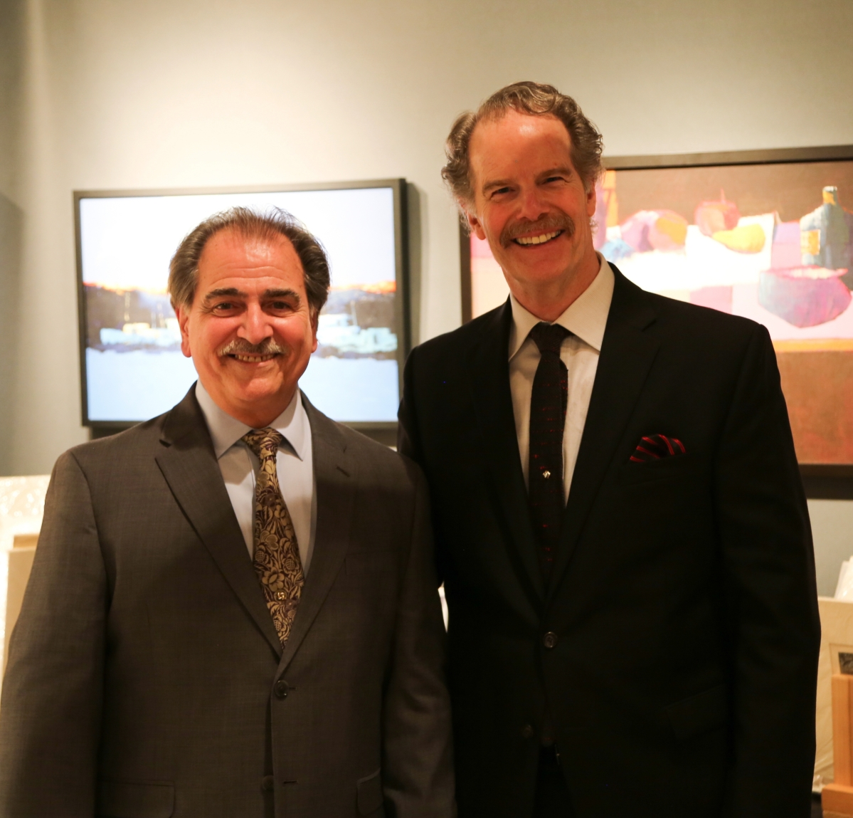 Tony Fusco, left, and Robert Four, celebrate the 10th anniversary of AD20/21 at the opening night gala.