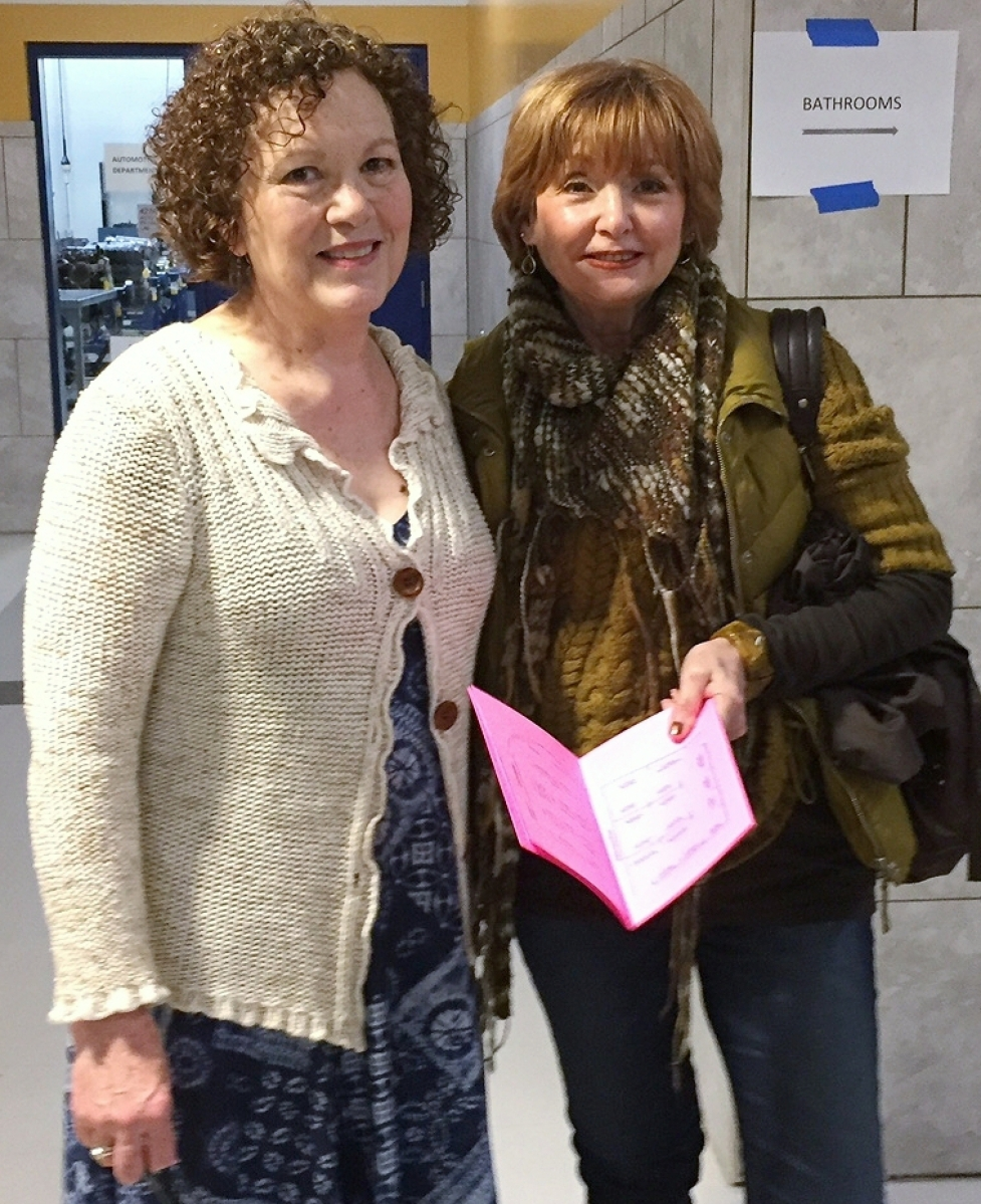 Show founder and coordinator Jan Praytor, left, with Terri Tushingham, a country Americana enthusiast from New Jersey who is often first in line.