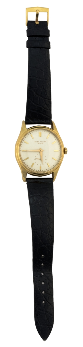 Patek Philippe 18K gold man's wristwatch, Switzerland, circa 1960, $24,000.