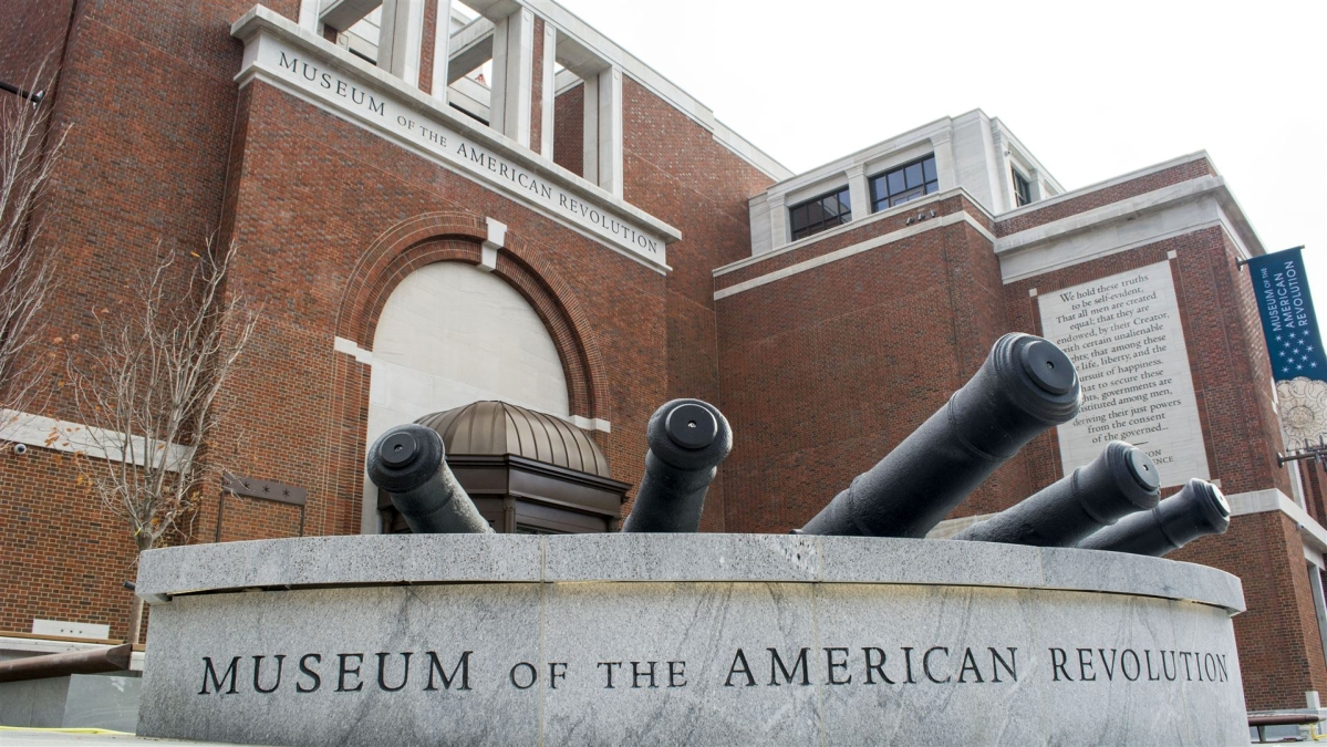 Exterior of the Museum of the American Revolution.