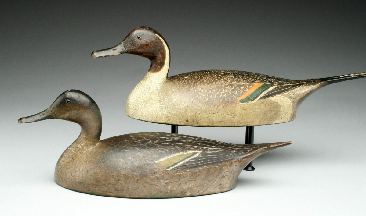 This rare pair of pintails by Ivar Fernlund (Hamilton, Ontario, Canada) were expected to exceed $200,000, and they did, realizing $201,250.