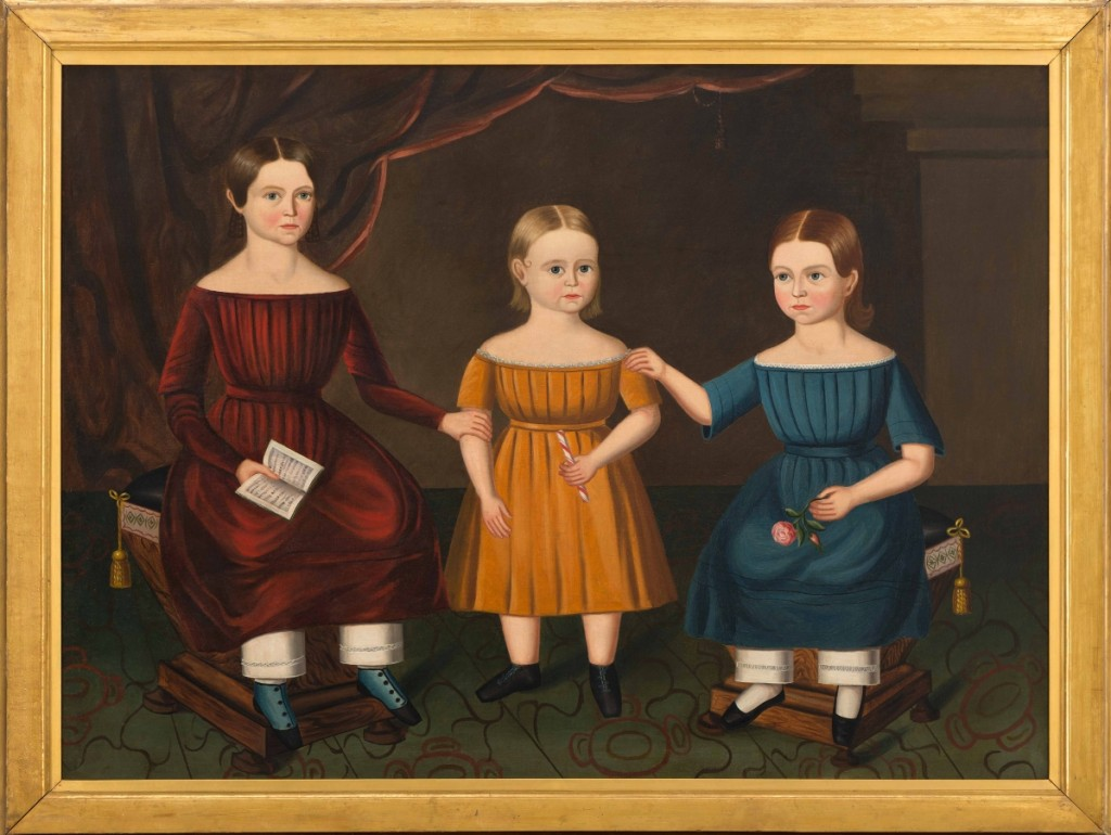 """The Hansbury Sisters,"" possibly Pennsylvania, circa 1840, oil on canvas, museum purchase. All photos courtesy of the Art Museums of Colonial Williamsburg."