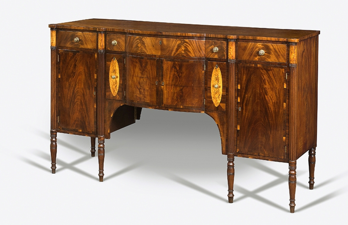 This Is One Of A Small Group Of Neoclassical Sideboards, Circa 1815,  Including Examples