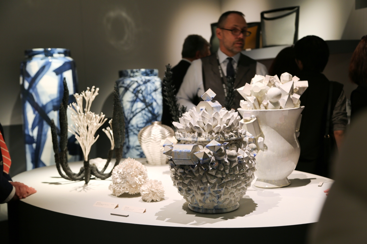 Adrian Sassoon, London, presented contemporary ceramic works by Junko Mori and Bouke de Vries.