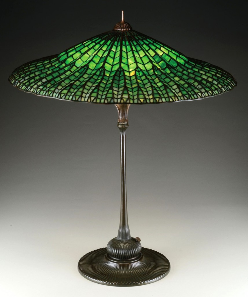 This svelte Tiffany Studios Lotus table lamp left the gallery at $84,700.
