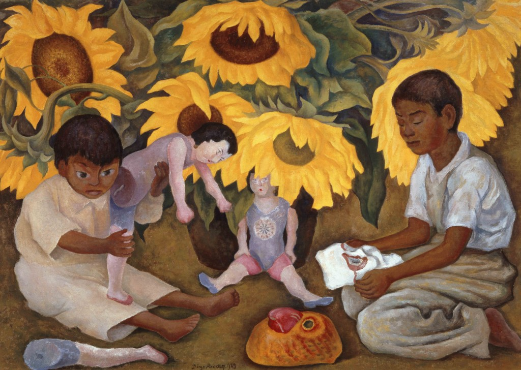 """Sunflowers"" by Diego Rivera, 1943. ©2016 Banco de Mèxico Diego Rivera Frida Kahlo Museums Trust, Mexico, D.F. / Artists Rights Society (ARS), New York and the INBA."