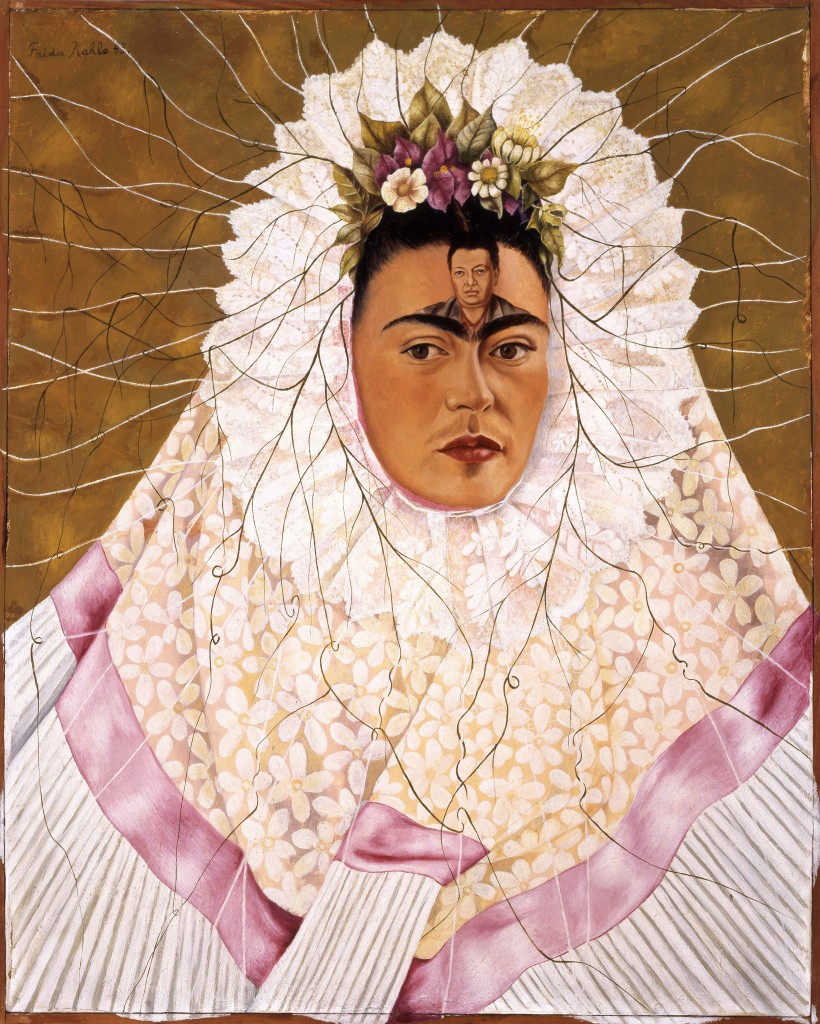 """Diego on my mind (Self-portrait as Tehuana)"" by Frida Kahlo, 1943. ©2016 Banco de Mèxico Diego Rivera Frida Kahlo Museums Trust, Mexico, D.F. / Artists Rights Society (ARS), New York and the INBA."