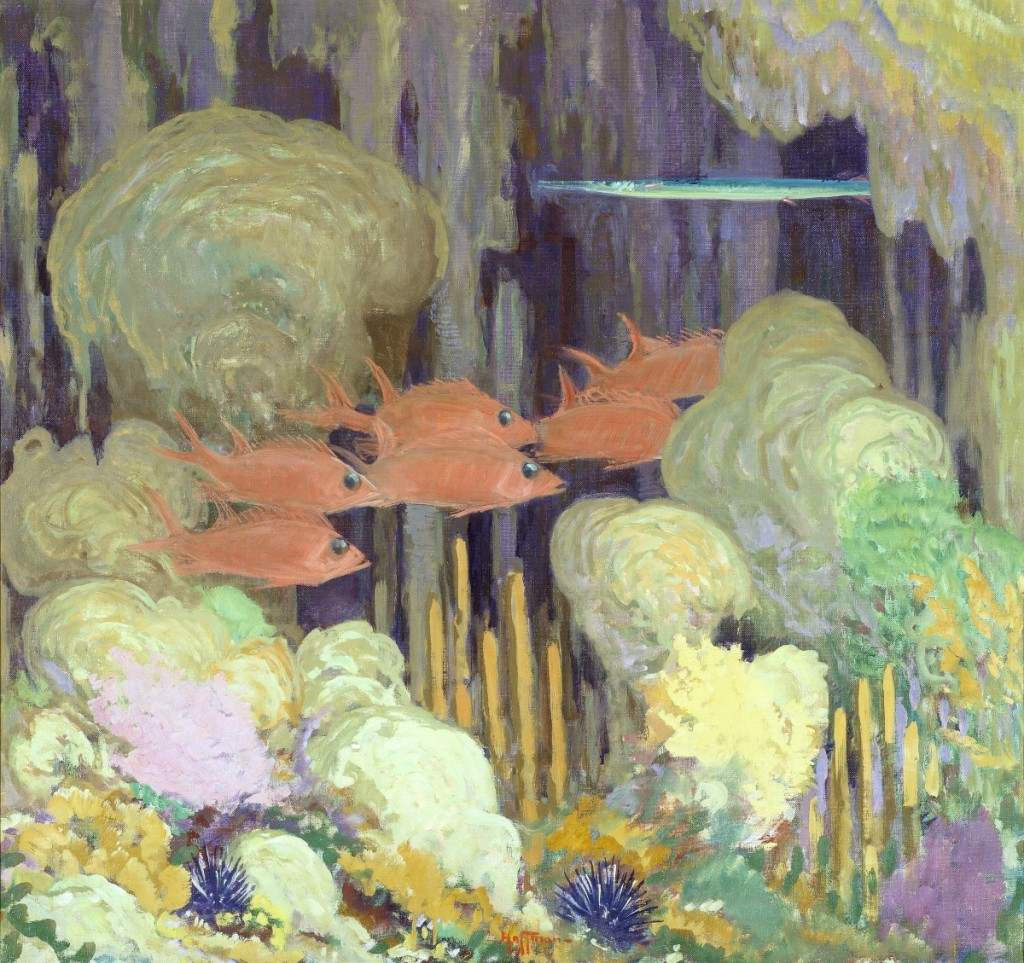 """A Coral Cave"" by Harry L. Hoffman (1871–1964), undated. Oil on canvas, 20 by 32 inches. Gift of Carolyn Zeleny."