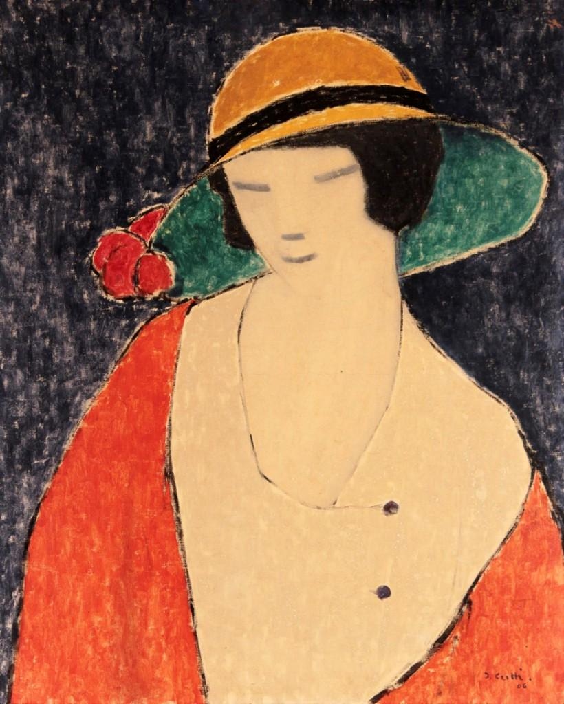 Jean Crotti 1878-1958 Woman in Hat crop