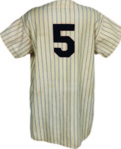 A classic. This 1950–51 Joe DiMaggio New York Yankees pinstripe uniform included both the player's pants and jersey for the year of his final season. It brought $376,610.