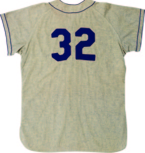Sandy Koufax's 1955 rookie year jersey was the third highest priced lot in the sale, bringing $667,189. Koufax made 12 appearances for the Brooklyn Dodgers that year with a 2-2 record. The team would go on to win the World Series that year.