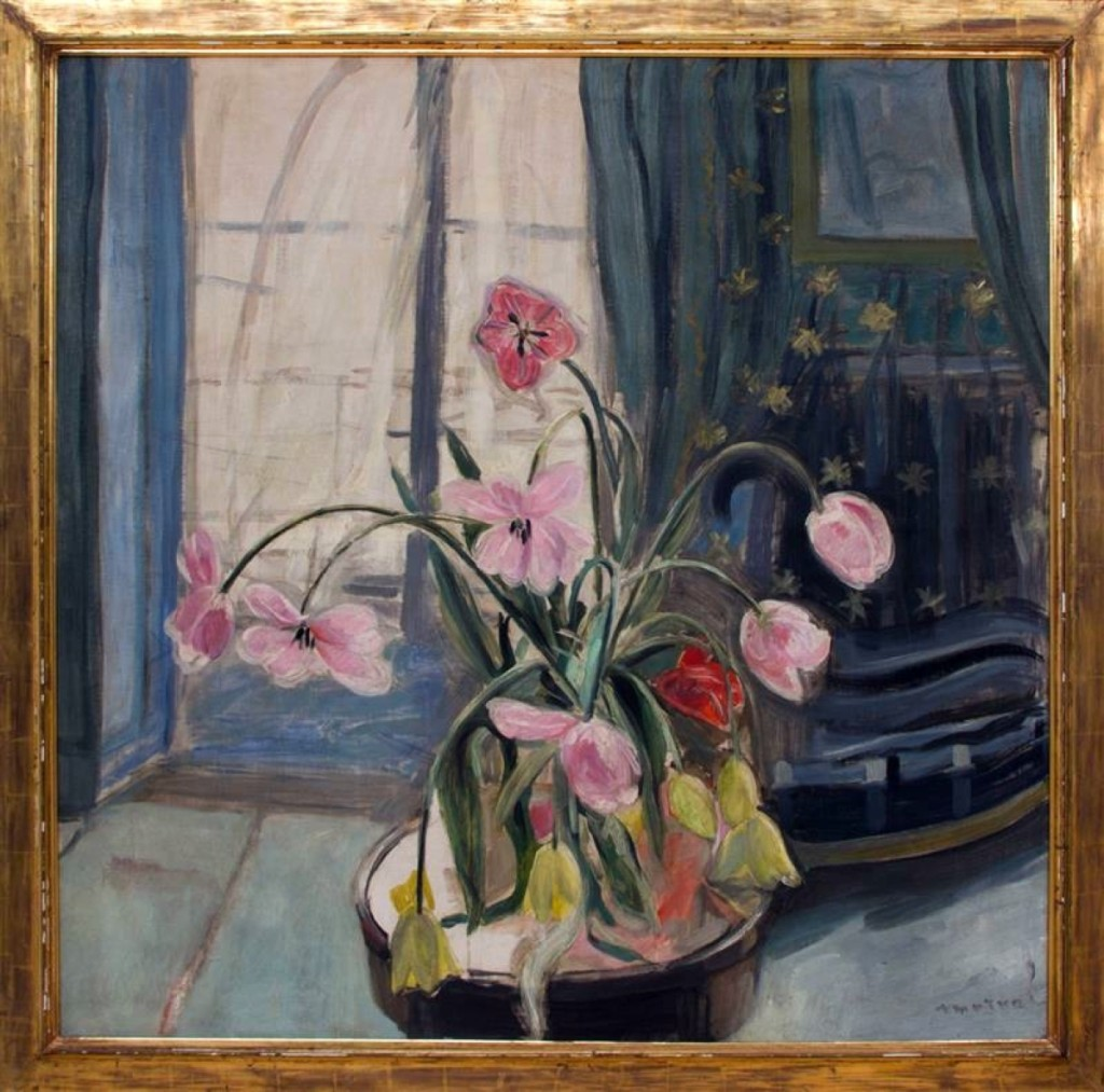 "Top lot in the Richards collection sale was Jaqueline Marval's (1866–1932) ""Bouquet de Tulips Devant la Fenetre, an oil on canvas with Crane Kalman Gallery, London, provenance, which brought $18,000."