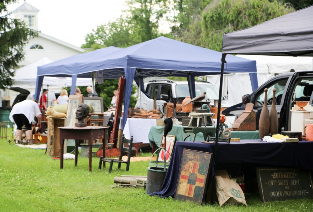 A wide array of antiques greeted visitors to the show. Everything from sculpture to primitives, ceramics, furniture and folk art were on hand.