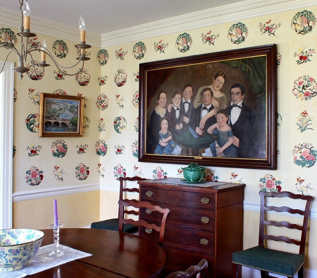Formerly in the collection of Colonel Edgar and Bernice Chrysler Garbisch, the large portrait of a family of eight hung in the Alexanders' dining room.