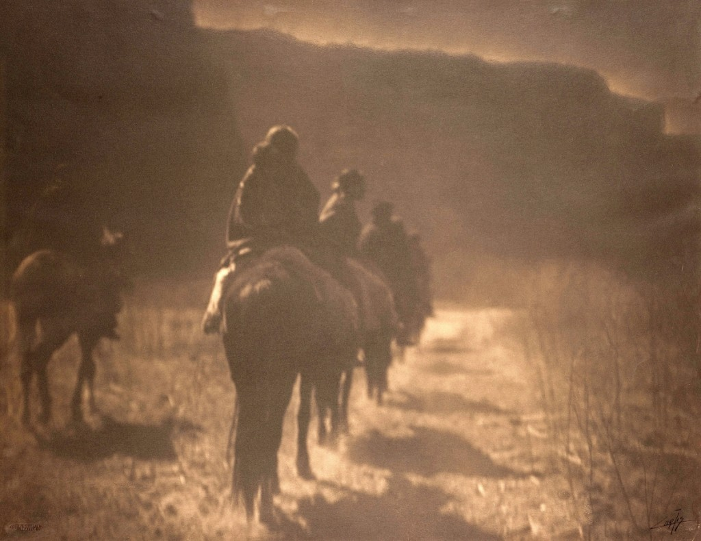 """The Vanishing Race — Navaho"" by Edward S. Curtis (1868–1952), 1904. Platinum print, 16 by 20¾ inches. Denver Art Museum"