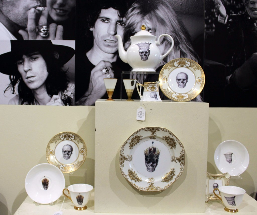 While most of the 120 or so lots in the Richards collection were not unlike items one might find at a Greenwich, Conn., estate sale, this skull-decorated tea service by Melody Rose had a definite rocker personality.