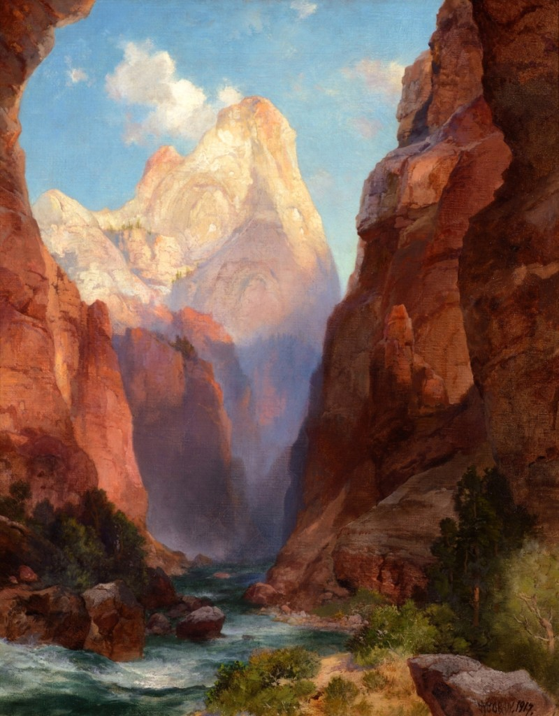 """The Rio Virgin, Southern Utah"" by Thomas Moran (1837–1926), 1917, oil on canvas, 20 by 16 inches, $651,000 ($600/900,000)."