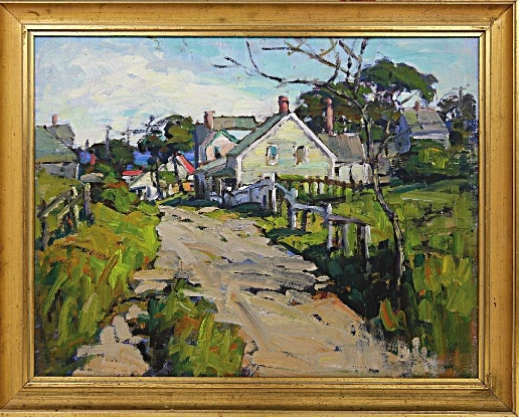 Anne Ramsdell Congdon was represented in the sale with three paintings, and the top-selling one of the group was this major Nantucket scene that fetched $78,000.