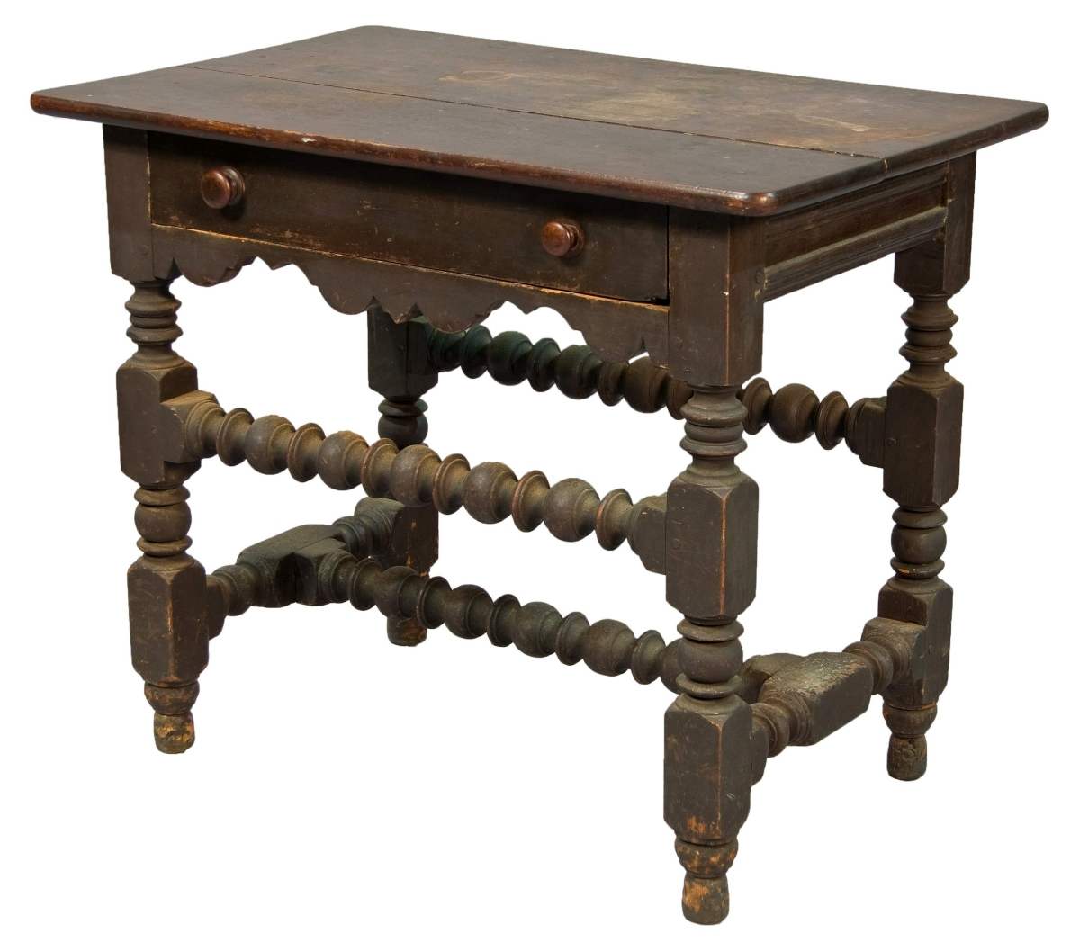 Moisan Early American hi-lo stretcher table