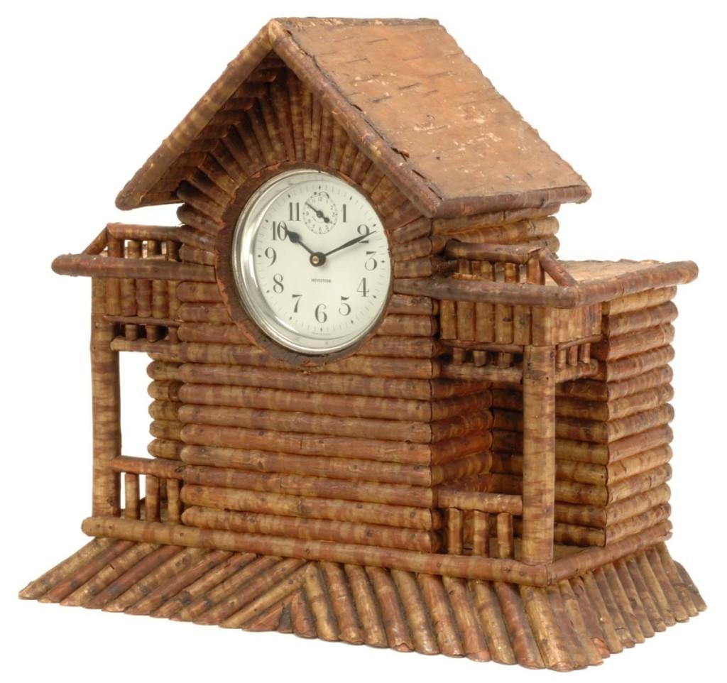 William Jones made this shelf clock circa 1888–1910.