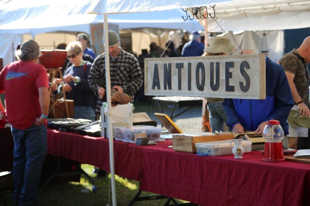 The sign says it all. Collectors Shop, Cape Cod, Mass. —J&J At Brimfield Auction Acres