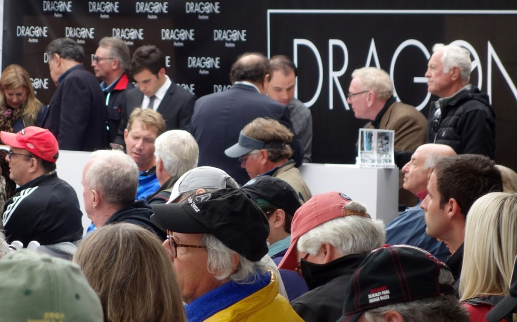 A very busy section of the auction tent, the phone bids area.