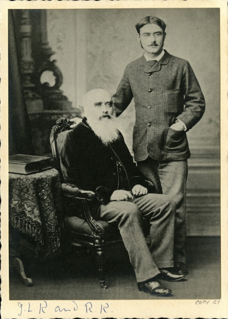 "Until this exhibition, which premiered at the V&A earlier this year, most people knew little to nothing about Rudyard Kipling's highly accomplished father. ""John Lockwood Kipling and Rudyard Kipling,"" 1882. Albumen print. Kipling Papers–Wimpole Archive, University of Sussex Special Collections at The Keep."
