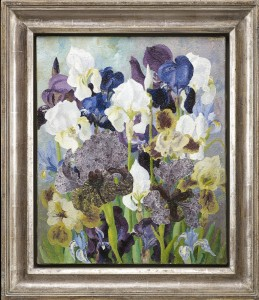 """""""May Flowering Irises No. 2"""" by Sir Cedric Morris (1889–1982), 1935. Image courtesy Philip Mould & Co."""